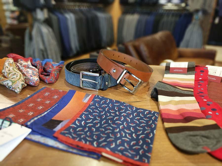 men's accessories socks belts handkerchiefs tiess